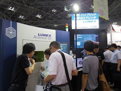 松浦機械製作所は今年も金属3Dプリンターを出展していた
