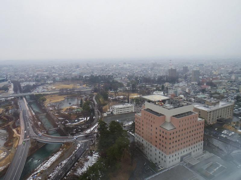 22階から市街を望む
