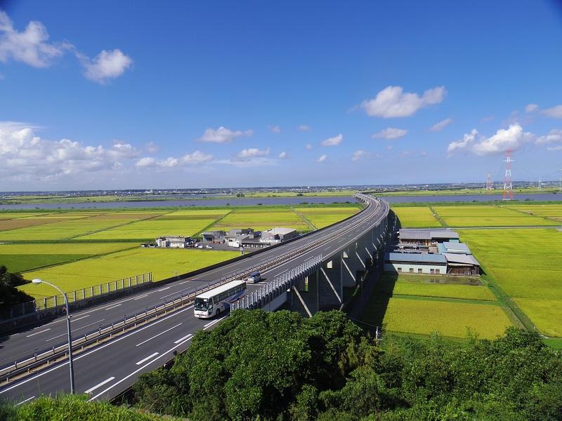 千葉県と茨城県の堺に広がる水郷地帯
