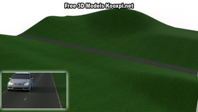 3D Terrain With Asphalt Road