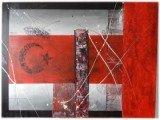Gemälde Red Turkey von kooZal - Acrylbilder und Collagen Mischtechniken