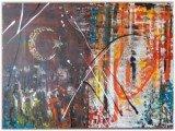 Gemälde Turkstract von kooZal - Acrylbilder und Collagen Mischtechniken
