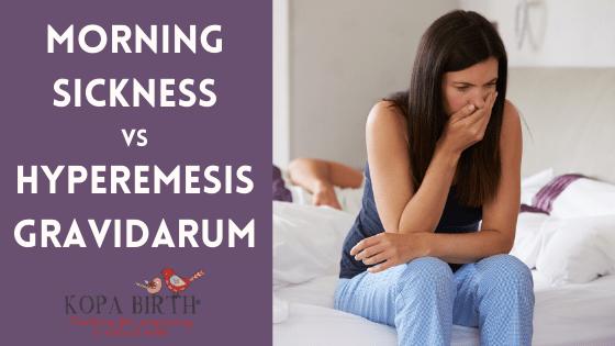 Morning Sickness versus Hyperemesis Gravidarum Image