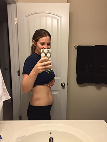Week 8 pregnancy baby bump