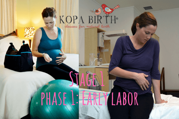 What are the three stages of labor - stage 1 - early labor