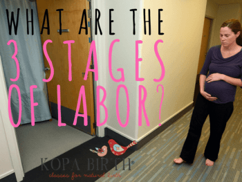 What are the three stages of labor