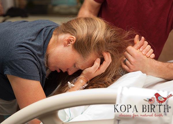 lottie's natural hospital birth - katie pushing