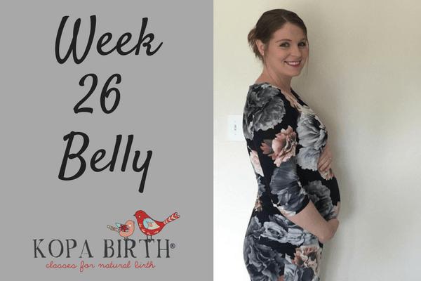week 26 pregnancy belly