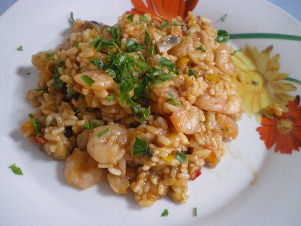 ριζότο με γαρίδες και λαχανικά