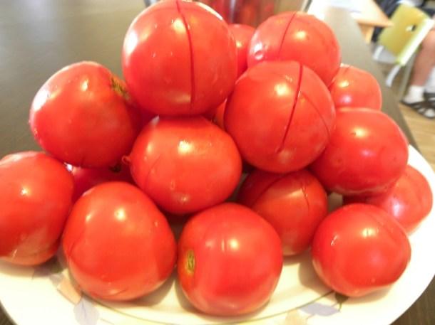 Φρέσκες ντομάτες για καγιανά εικόνα