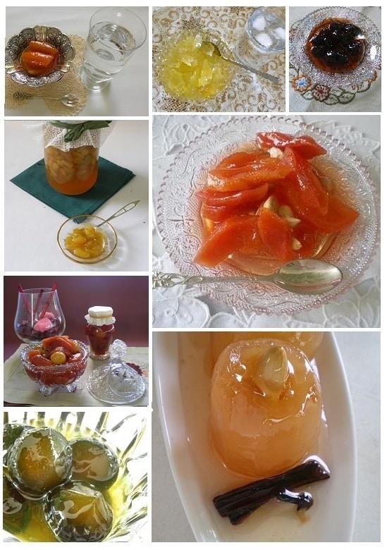κολάζ διάφορα γλυκά του κουταλιού εικόνα
