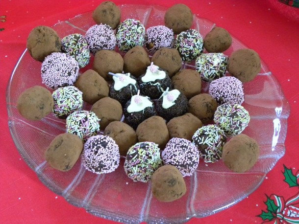 truffles from Christmas leftovers image