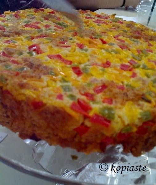 Πιπερόπιτα:  Κέικ με τυρί και πιπεριές
