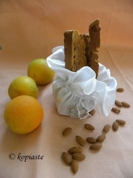 Olive oil orange and almonds biscotti