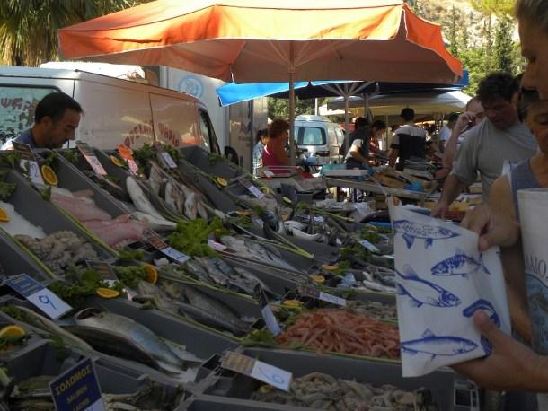 λαϊκή αγορά ψαριών εικόνα