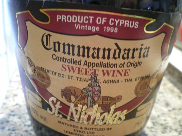 Κυπριακή κουμανταρία St. Nicholas εικόνα