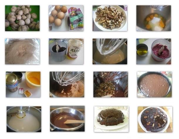 Κολάζ Καρυδόπιτα σοκολάτας με παντζάρια εικόνα