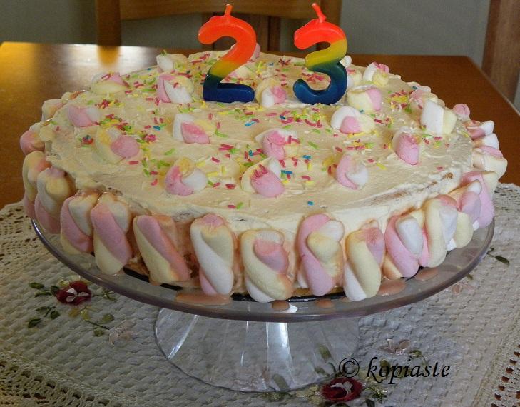 Τούρτα Γενεθλίων Περγαμόντο με Marshmallows