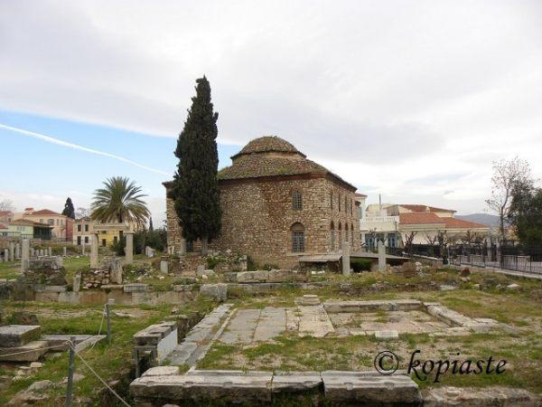 Αθήνα Φετιγιέ Τζαμί (Τζαμί της Νίκης), πίσω πλευρά