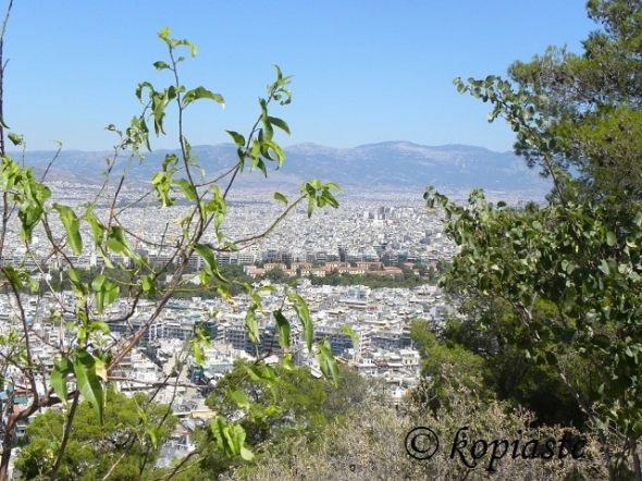 View of Athens from the mountain