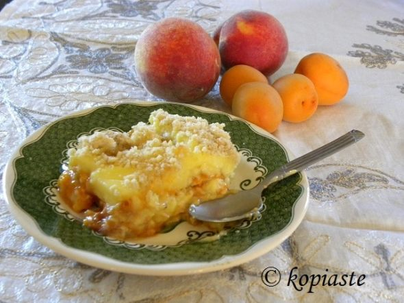 Apricot and Peach Crumble pudding2