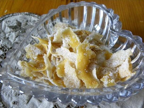 ζαχαρωμένες φλούδες λεμονιού εικόνα