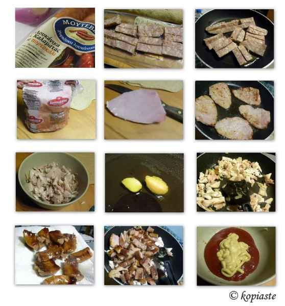 Collage Ingredients Galette with Sausage