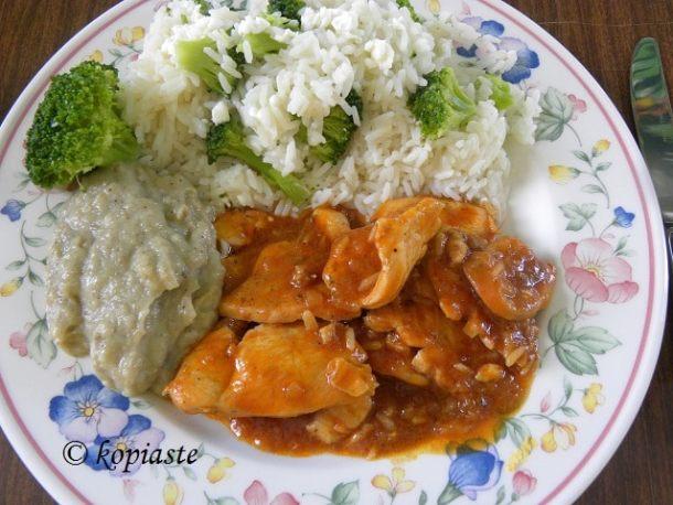 κοτόπουλο χουνκιάρ με ρύζι εικόνα