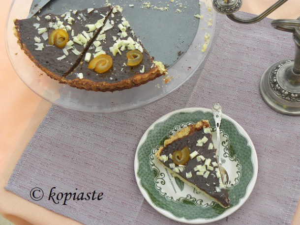 Chocolate Tart with Bergamot
