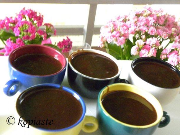 Greek coffee mousse