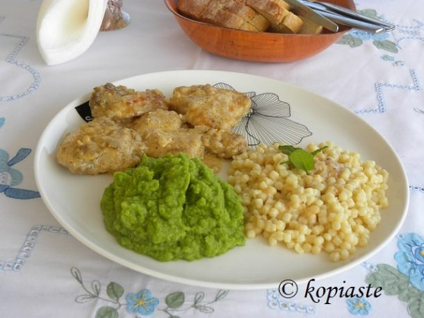 chicken couscous and peas