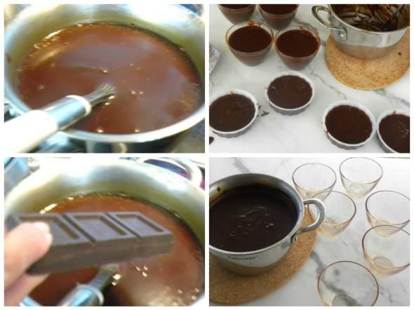 collage chocolate grape pudding