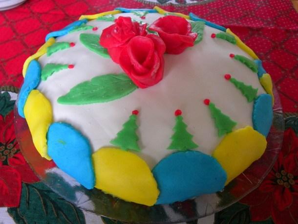Κέικ με ζαχαρόπαστα εικόνα