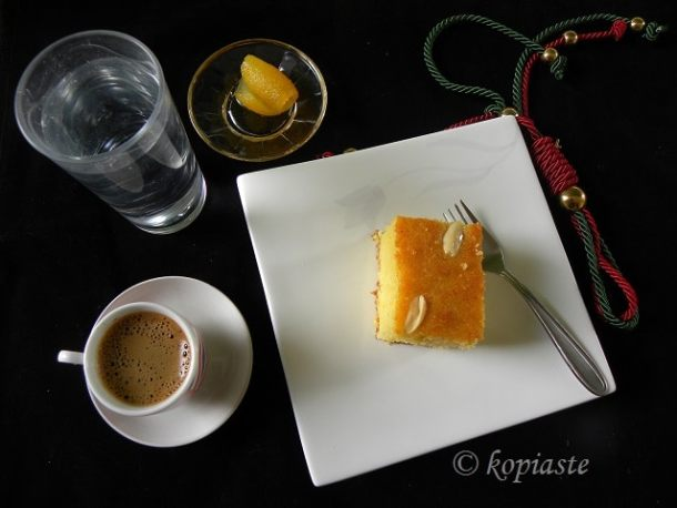 Olive oil revani with bergamot