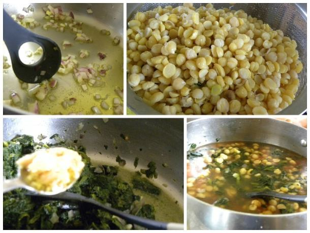 Chickpeas with Spinach collage