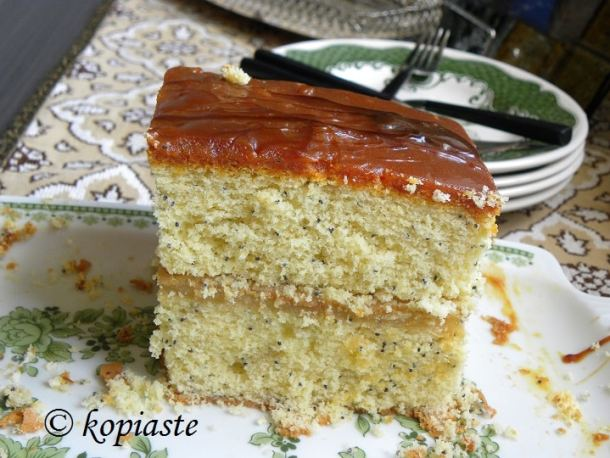 Cake with salted Caramel