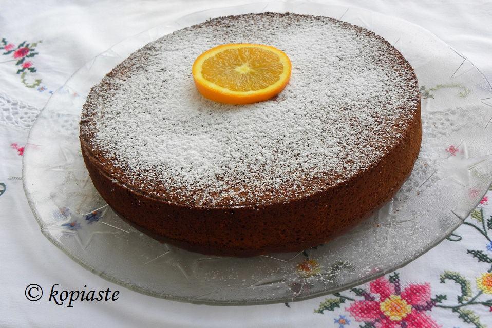 Κέικ Ελαιολάδου με Πούλπα Πορτοκαλιού, Αμύγδαλα και Κανέλα