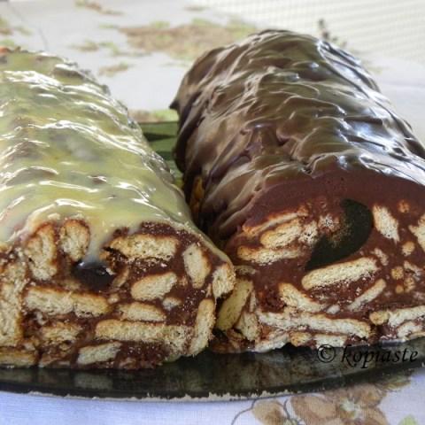 Κορμός Σοκολάτας (μωσαϊκό), με μπισκότα