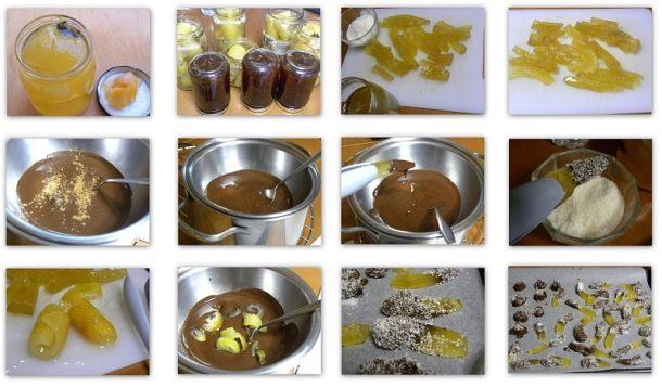 κολάζ φλούδες καρπουζιού με σοκολάτα
