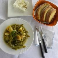 Κουκιά Φρέσκα Λεμονάτα, με Αγκινάρες, Πατάτες, και Αρακά