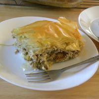 Πίτα με Κολοκυθολούλουδα και Μέντα