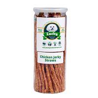 Lucky Premium Treats Natural Chicken Jerky Straws Dog Treats by