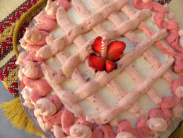 Τούρτα μπαβαρουαζ φράουλας εικόνα