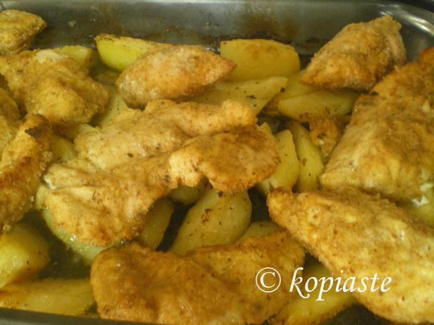 Chicken pane marked