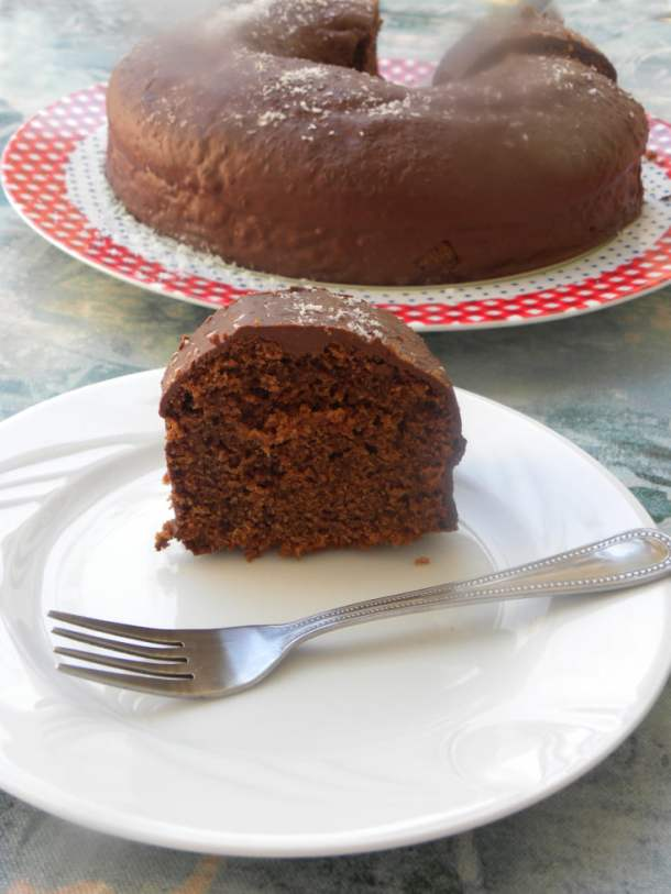 Chocolate tahini cake image