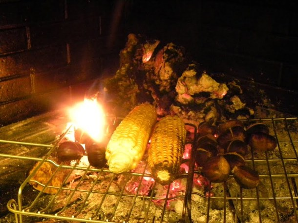 Fireplace Chestnuts roasting image