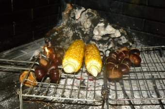 Fireplace Chestnuts roasting picture