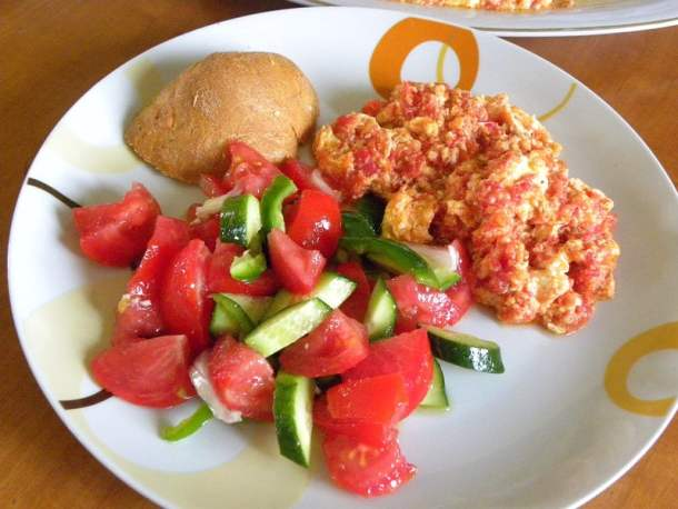 Kagianas with Greek salad image