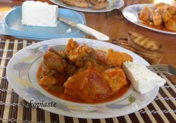 Kolokassi with feta