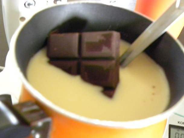 making chocolate pastry cream image
